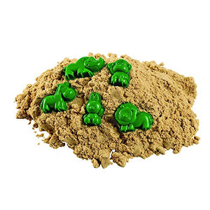 Excellerations Sensory Play Sand, Natural with 5 Bonus molds, 5lbs for Ages 3 & Up, Model Number: WOWSAND