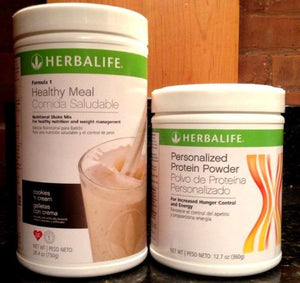 Herbalife Formula1 Nutritional Shake + Personalized Protein Powder (Cookies 'n Cream)