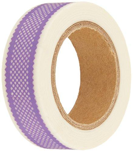 Wrapables Colorful Patterns Washi Masking Tape, Orchid Ribbon