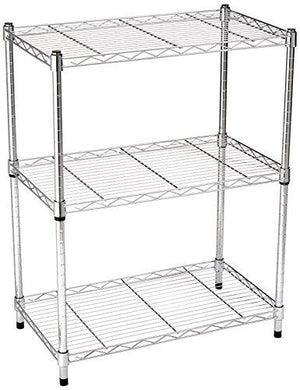 Amazonbasics 3-Shelf Shelving Unit - Chrome