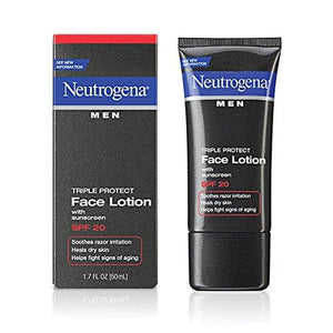 Neutrogena Face Lotion, Triple Protect, Spf 20, 1.7 Fz (Pack Of 3)