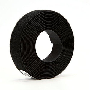 3M Fastener Tb3401/Tb3402 Hook/Loop Black, 1 In X 10 Ft (1 Mated Strip/Bag)