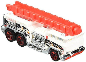 Hot Wheels, 2015 Hw City, 5 Alarm [White] Fire Engine Die-Cast Vehicle #51/250