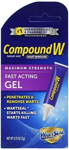 Compound W Wart Remover, Maximum Strength, Fast-Acting Gel, 0.25-Ounce (Pack Of 2)