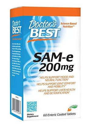 Doctor'S Best Sam-E 200 Mg Vegan Soy Free Mood And Joint Support 60 Enteric Coated Tablets