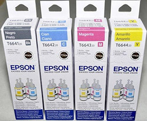 Epson Original Refill Ink Set (T6641 T6642 T6643 T6644) For L100 L110 L120 L200 L210 L300 L350 L355 L550 L555