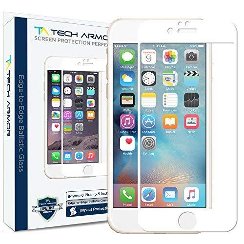 Tech Armor Iphone 6S Plus / Iphone 6 Plus 5.5-Inch Screen Protector - White