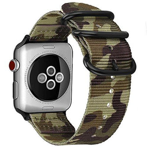Fintie Band For Apple Watch 44Mm 42Mm, Lightweight Breathable Woven Nylon Sport Loop Wrist Strap With Metal Buckle Compati