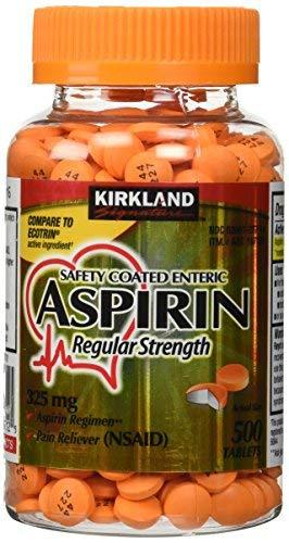 Kirkland Signature Safety Coated Enteric Aspirin - 325 Mg / 500 Tablets