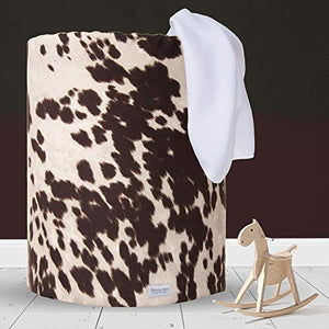 "Glenna Jean Hamper, Cow, Brown, 17"" x 17"" x 23"""