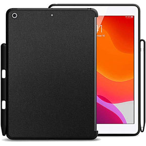 KHOMO iPad 10.2 2019 and 2020 Case with Pencil Holder (7th & 8th Generation) - Companion Back Cover Series - Perfect Match for Apple Smart Keyboard and Front Cover