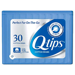 Q-Tips Cotton Swabs 30 Count Purse Pack (12 Pieces) by Q-Tips