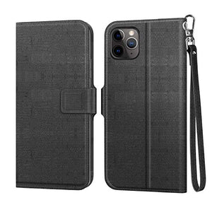 MoKo Compatible with iPhone 11 Pro Case, [Stand-View Feature] Full Body Folio Wallet Case Flip Cover with Card Slot & Wrist Strap Fit iPhone 11 Pro 5.8 inch 2019 - Slate Black
