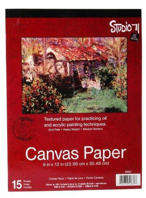 Darice 97490-2 9-Inch-By-12-Inch Canvas Paper, 15-Sheets