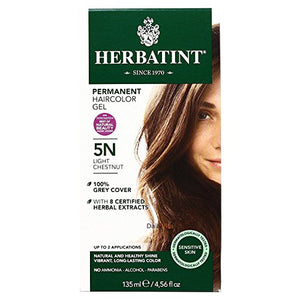 Herbatint Permanent Hair Color Light Chestnut 5Nâ - 135 Ml - Pack Of 4