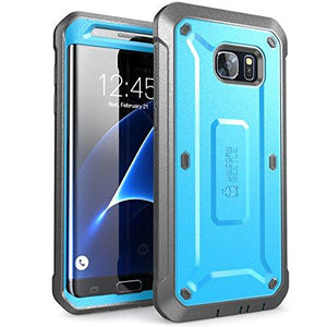 Supcase Galaxy S7 Edge Case  Fullbody Rugged Holster Case Without Screen Protector(Blueblack)