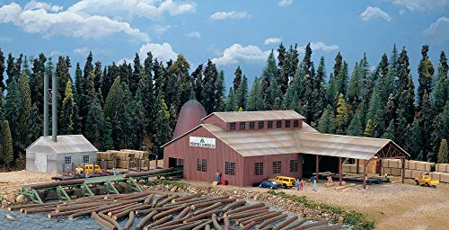 Walthers Cornerstone N Scale Model 174 Brown Scale Mountain Lumber Chevron Sawmill - Kit