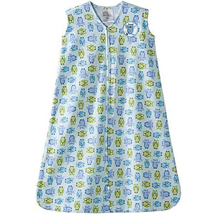 Halo Sleepsack 100% Cotton Wearable Blanket, Owl, Large