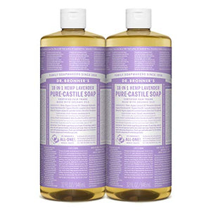 Dr. Bronner Pure-Castile Liquid Soap (Lavender 32 Oz 2-Pack)