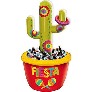 Amscan Cinco De Mayo Green Red Cactus Inflatable Plastic Cooler | Party Decoration
