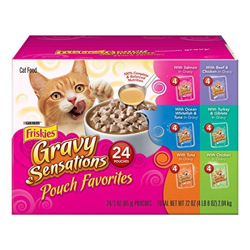 Purina Friskies Gravy Wet Cat Food Variety Pack