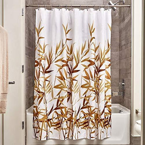 Interdesign Anzu Fabric Shower Curtain, Brown, 72 X 72-Inch