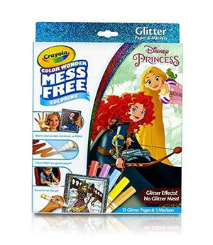 Crayola Color Wonder Glitter Pad & Markers Princess Toy