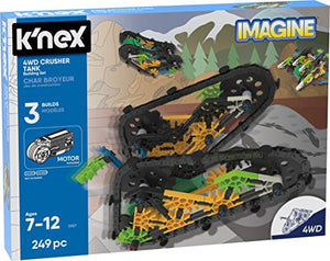 K'NEX Imagine – 4WD Crusher Tank Building Set – 249Piece – Ages 7+ – Engineering Educational Toy Building Set