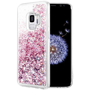 Caka Case for Galaxy S9 Case, Galaxy S9 Glitter Case for Girls Women Luxury Fashion Bling Flowing Liquid Floating Sparkle Glitter Soft TPU Case for Samsung Galaxy S9 (Rose Gold)