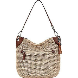 The Sak The Indio Crochet Hobo Bag, Bamboo Static