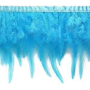 Expo International Julie Feather Fringe Trim, 10 Yd, Turquoise