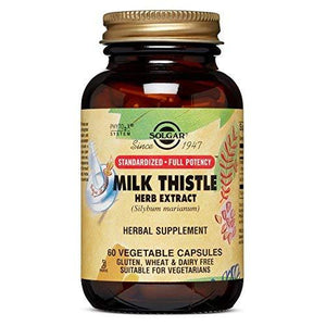 Solgar - Standardized Full Potency Milk Thistle Herb Extract, 60 Vegetable Capsules