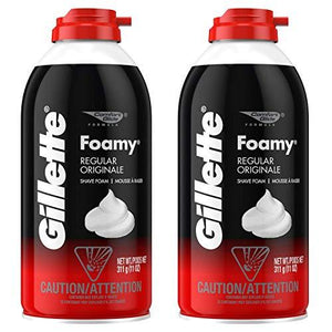 Gillette Foamy Shaving Cream, Regular - 11 Oz - 2 Pk