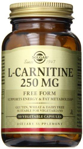 Solgar L-Carnitine 250 Mg, 90 Vegetable Capsules