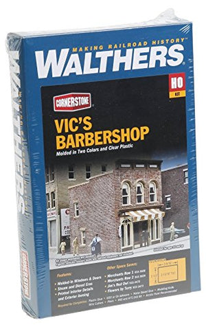 Walthers Cornerstone Vic's Barber Shop Kit