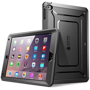 Supcase Apple Ipad Air 2 Case [2Nd Generation] With Built-In Screen Protector, Black/Black