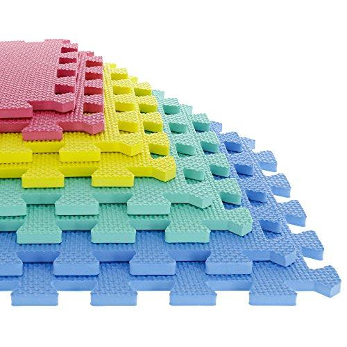 Tg Foam Mat Floor Tiles, Interlocking Eva Foam Padding Soft Flooring For Exercising, Yoga, Camping