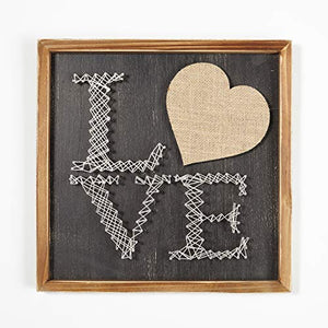 Urban Shop Love Wood Hanging Wall Art