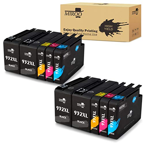 MIROO Compatible Ink Cartridge Replacement for HP 932XL 933XL High Capacity (4 Black 2 Cayn 2 Magenta 2 Yellow), Work with HP Officejet Pro 7612 6700 6600 6100 7110 7610 Printer