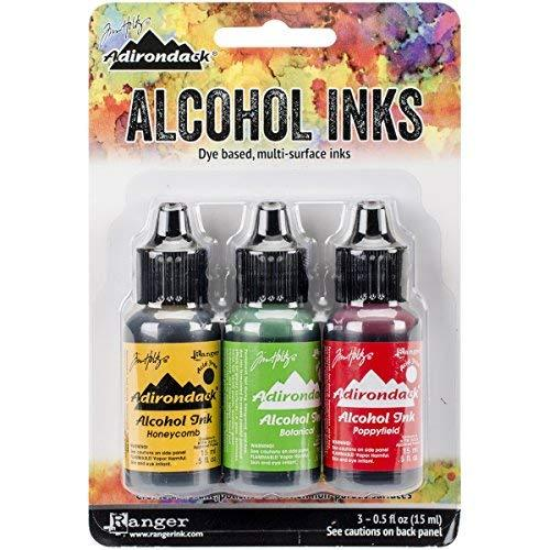Ranger Adirondack Brights Alcohol Ink, 0.5-Ounce, Conservatory-Honey Comb/Botanical