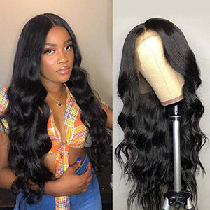 Amella Hair Lace Front Wigs Human Hair Pre Plucked with Baby Hair 150% Density Brazilian Body Wave Human Hair Wig for Black Women (18inch, 13X 4 Lace Wigs)