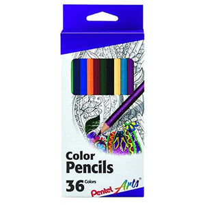 Pentel Arts Color Pencils - Assorted Colors, 36-Pack (Cb8-36)