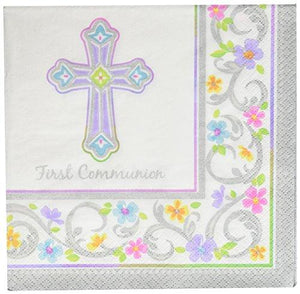 "Amscan ""First Communion"" White Luncheon Napkins, 36 Ct. 