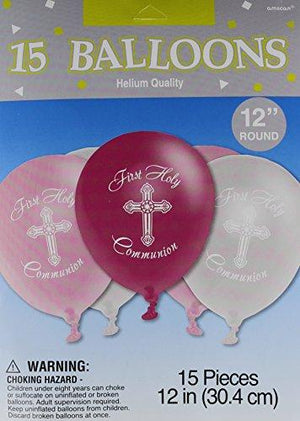 "Amscan ""First Holy Communion"" Printed Latex Balloons, 15 Ct. 