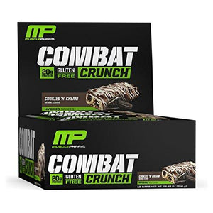 Musclepharm Combat Crunch Protein Bar, Cookies 'N' Cream, 12 Bars