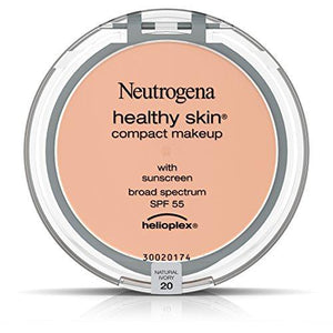 Neutrogena Healthy Skin Compact Makeup Foundation, Broad Spectrum Spf 55, Natural Ivory 20, .35 Oz.