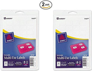 "Avery 05418 .75"" Print Or Write Labels (Pack Of 2)"