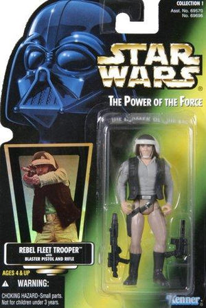Star Wars Power Of The Force Green Card Rebel Fleet Trooper Action Figure 3.75 Inches