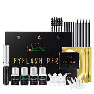 Libeauty Lash Lift Kit Eyelash Perm Kit 5-8 Mins Professional Quick Lifting with Complete Tools, Semi-Permanent Curling Perming Wave Kit, Lotion&Liquid Set