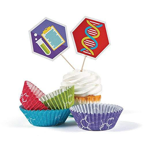 Fun Express Science Party Cupcake Liners With Picks Pack Of 50
